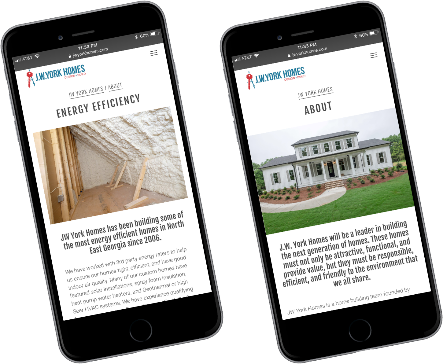 JW York Subpages at mobile view