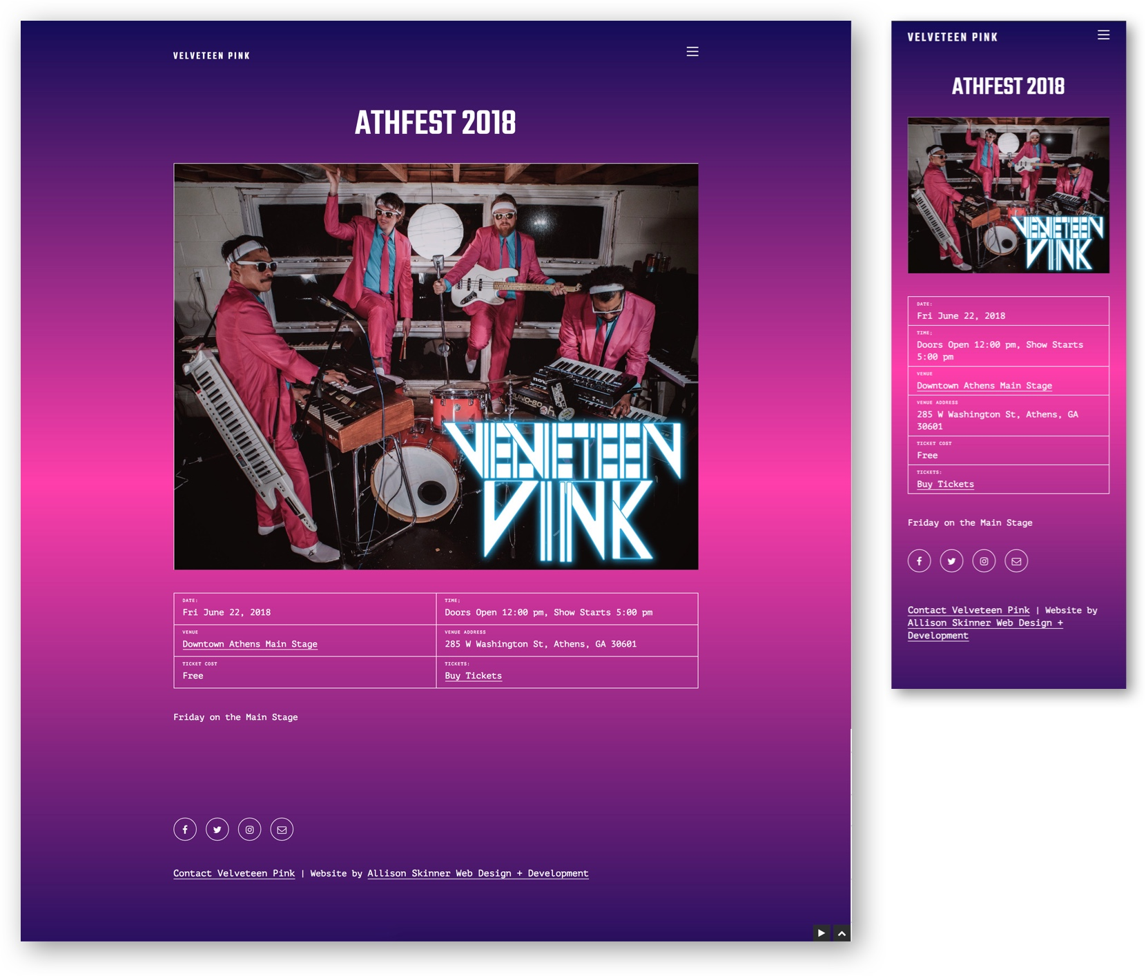 Velveteen Pink event page