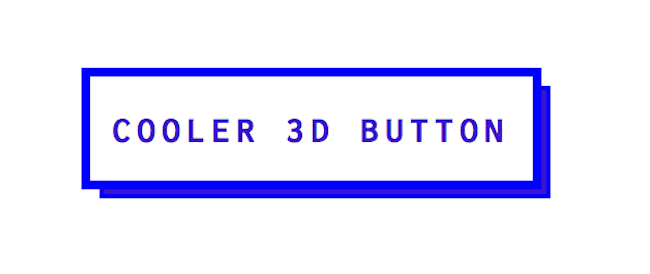flat design button with 3D edge