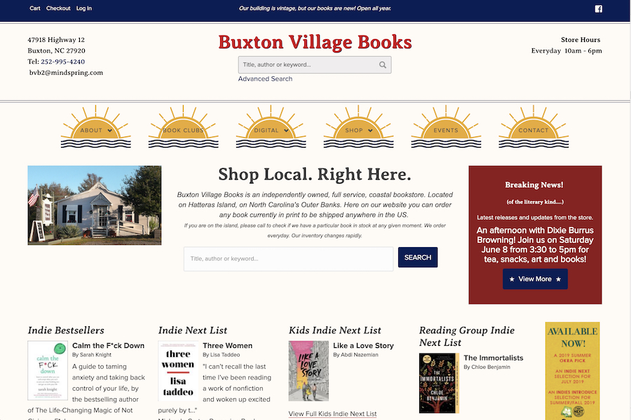 Buxton Village Books Homepage