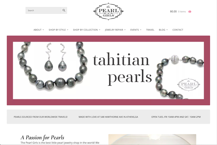 Homepage of The Pearl Girls